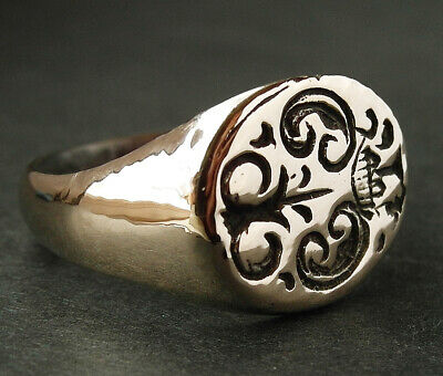 Stunning genuine ancient Medieval bronze ring - wearable - Museum condition