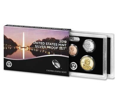 2019 U.S. MINT 10 COIN SILVER PROOF SET w/ .999 SILVER AB QUARTERS