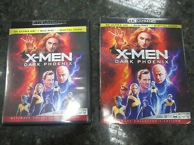 SUPER NICE & MINT!! X-Men: Dark Phoenix (4K ULTRA HD+Blu-ray, 2019) W/ SLIPCOVER