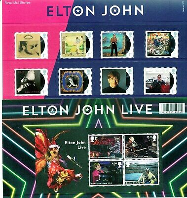 Presentation Pack 575 ELTON JOHN 2019 ROYAL MAIL MINT STAMPS 12 Post Office GB