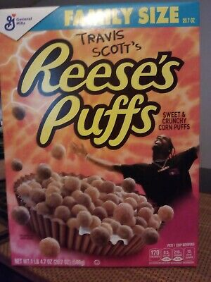 Limited Travis Scott X Reeses Puffs Cereal - Family Sized - SOLD OUT RARE!