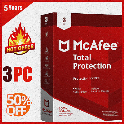 McAfee Total Protection 2020 : 03 Device - 5 Year  KEY instant eBay message !!!