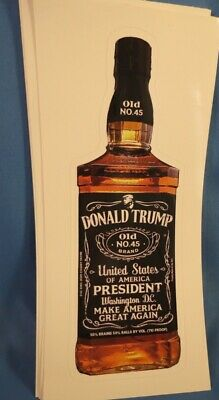 WHOLESALE LOT OF 10 TRUMP 2020 STICKERS Make America Great Again Whiskey 45 KEEP