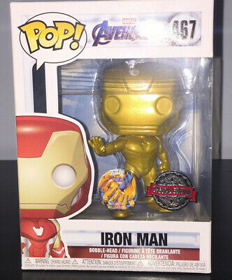 Avengers 4 Endgame GOLD Ironman Pop Vinyl Figure Funko Custom RARE Marvel Thanos
