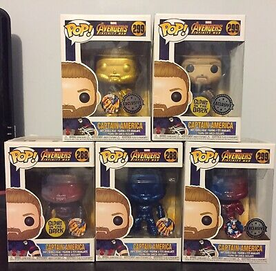 Avengers Infinity War 5 Captain America Pop Vinyl Figure Funko custom Thanos