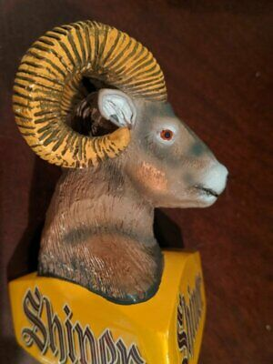 Shiner Bock Ram Beer Tap Handle