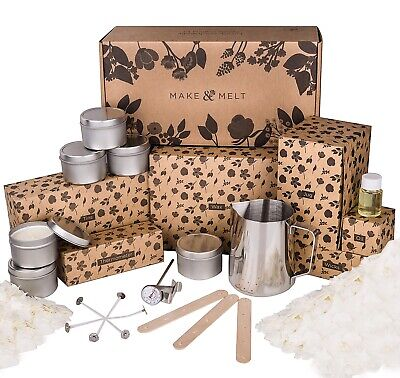 MAKE&MELT Candle Making kit With soy wax