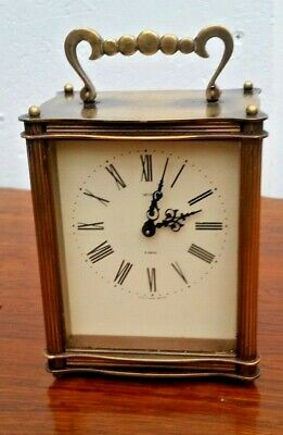 Smiths 8-day Brass  Mechanical Carriage Clock with Floating Balance