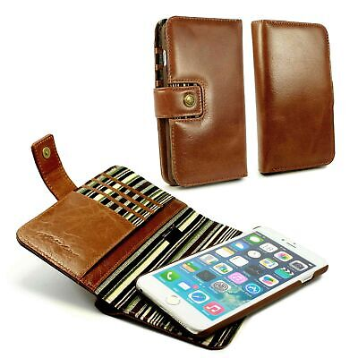 Alston Craig Personalised Leather Magnetic Wallet For iPhone 6 / 6s Plus - Brown
