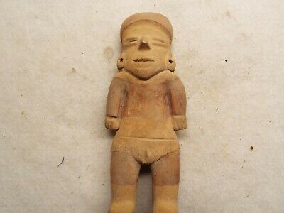 VERY  RARE Pre Columbian ARTIFACT  CLAY STANDING FIGURE