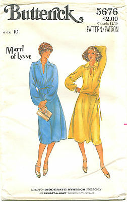 Butterick 5676 Misses Vintage Dress Top Skirt Sewing Pattern ~ Sz 10 ~ Uncut