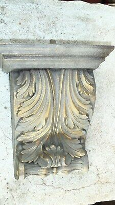 Vintage Classical Gold Leaf Shelf Acanthus leaf Wall Corbel Sconce Bracket MINT