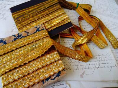 A Beautiful Collection Of 19th Century French Gold Metallic Trim