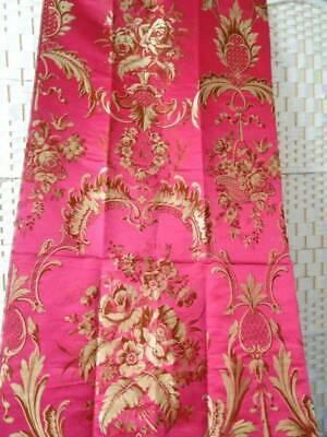 A Stunning Long Length Of Late 19th Century French Silk Fabric