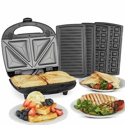 sandwich toaster 3 in 1 waffle belgian maker grill panini grill iron bbq 2Y Warr