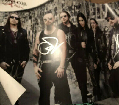 Lacuna Coil -  HAND SIGNED Poster- AUTOGRAPHED - Black Anima