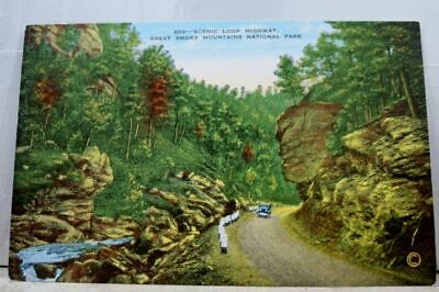 Great Smoky Mountains National Park Scenic Loop Highway Postcard Old Vintage PC