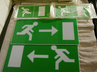 Fire exit signs - joblot