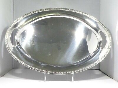 Antique William Durgin Sterling Silver Tray 22.85 Troy Ounces