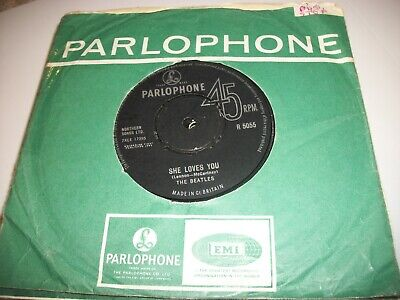"THE BEATLES- SHE LOVES YOU VINYL 7"" 45RPM CO- 1960s"