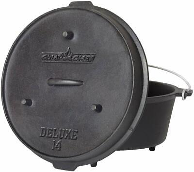 Deluxe 12-Quart Dutch Oven Lid With Legs Can Be Used As A Skillet/Griddle
