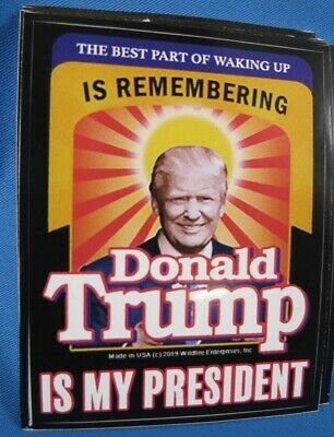 LOT OF 10 2020 STICKERS Best Part of Waking up is Donald TRUMP is my President