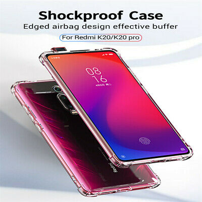9H Shockproof Silicone Case Cover For Redmi K20 K20 Pro Slim Transparent Clear