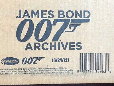 JAMES BOND Archives 2015 Factory Sealed Case of 12 Boxes (Autographs and more)