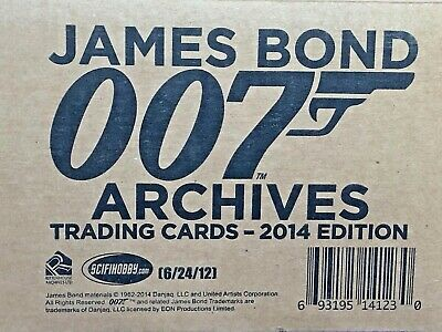 JAMES BOND Archives 2014 Factory Sealed Case of 12 Boxes (Autographs and Relics)