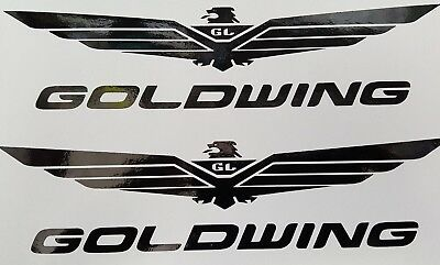 GOLDWING Logo Aufkleber in Schwarz Glanz 20 ×5 cm.Top