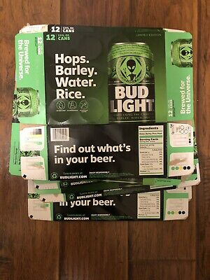 2 Bud Light Storm Area 51 Green Alien UFO Limited Edition Empty Boxes