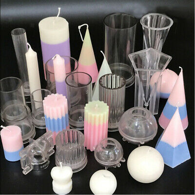 DIY Candle Molds Candle Making Plastic Mould Handmade Soap Molds Clay Craft Tool