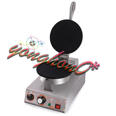 New Commercial Ice Cream Waffle Cone Maker One Head Nonstick Baker