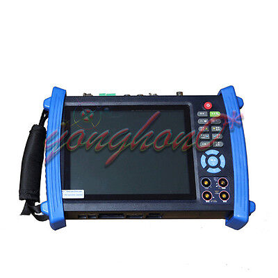 """7"""" Touch screen IP 1080p-30fps-AHD Camera Monitor PTZ TESTER 12v-Out IPC-8600A"""