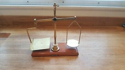 Rare Antique brass weighing scales Degrave and Co London, stamped with GPO