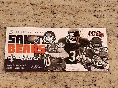 New Orleans Saints vs Chicago Bears Game Day Ticket Stub 10/20/19 Khalil Mack