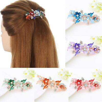 Womens Headwear Accessories Cute Hairpin Flower Barrettes Crystal Hairs Clip