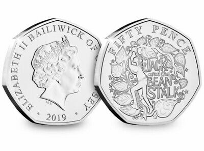 CHRISTMAS PANTOMIME 50p COIN 2019 BRILLIANT UNCIRCULATED JACK & THE BEANSTALK.