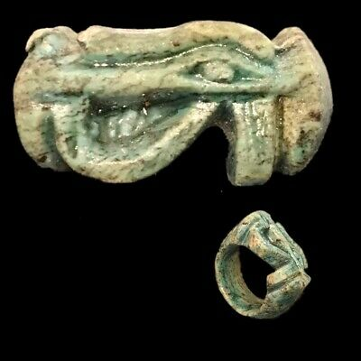 Beautiful Ancient Egyptian Eye Of Horus Ring 300 Bc (1)