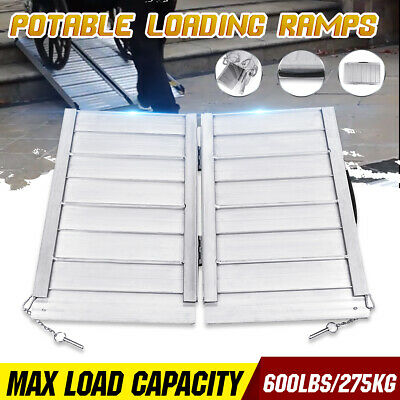 600lbs Aluminum Folding ATV Loading Motorcycle Wheelchair Scooter Mobility Ramp