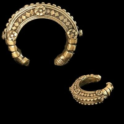 Ancient Silver Decorative Gandhara Bedouin Torc 300 B.C. (4)