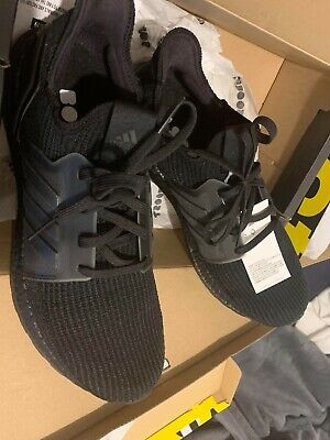 Adidas Ultraboost 19 G27508 Mens Black Canvas Lace Up Athletic Running Shoes