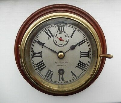 French Late Victorian  Brass Ships Clock. working