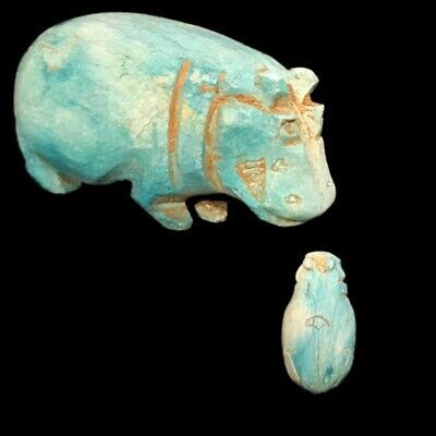 Beautiful Ancient Egyptian Hippo Amulet 300 Bc (14)