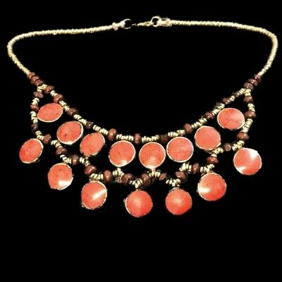 Rare Ancient Red Stone Pendant Necklace  300 B.c 15 Stones! (6)