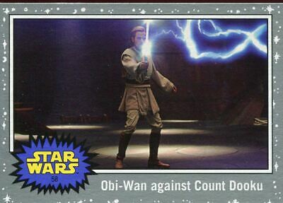 Star Wars JTTROS Silver Parallel Base Card #58 Obi-Wan against Count Dooku