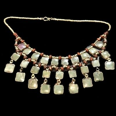 Rare Ancient Green Stone Pendant Necklace  300 B.c 28 Stones! (7)