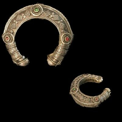 Ancient Silver Decorative Gandhara Bedouin Torc 300 B.C. (5)