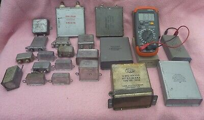 LOT of High Voltage Oil Filled Can Capacitors (Sprague, GE, Aerovox, etc.!!)