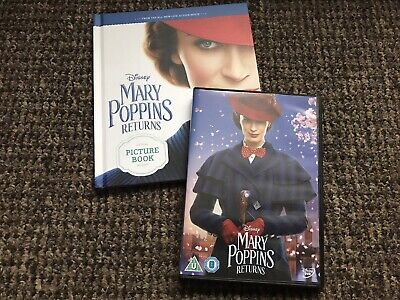 Mary Poppins Returns (DVD  2019) Film & Book Watched Once